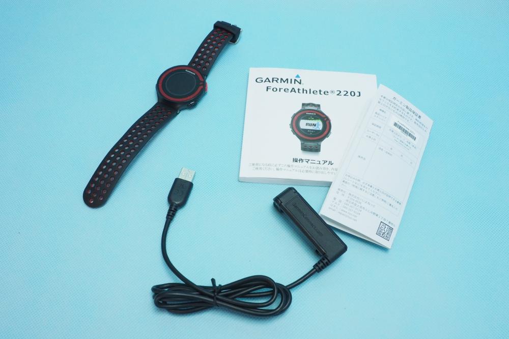 07127fdc78 ニコニコ宅配買取|GARMIN(ガーミン) ランニングウォッチ GPS ForeAthlete 220J ブラック/レッド  Bluetooth対応、3,500円、買取実績